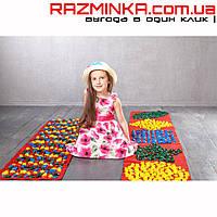 Детский массажный коврик Ортопед с фигурами 200x40см