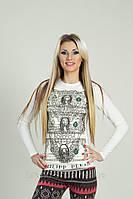 """Стильная женская кофта  """"  Череп на фоне долларов """" SK House"""