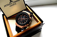 Кварцевые мужские часы Hublot черное золото , магазин наручных часов