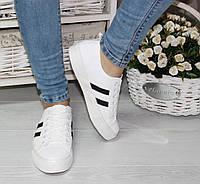 Молодежные кроссовки кеды слипоны на шнурках черные и белые