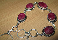 """Симпатичный браслет """"Ренесанс"""" с  яркими  рубинами от студии LadyStyle.Biz"""