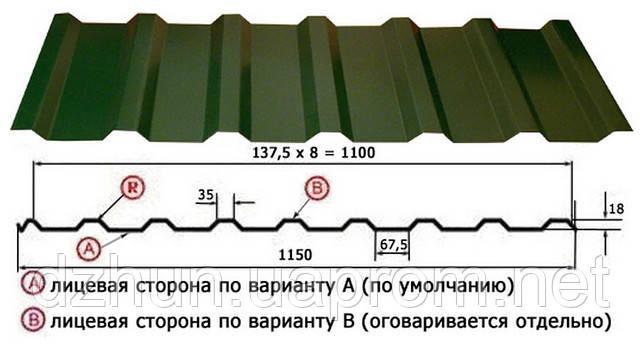 Профнастил ПК-20 Крашенный 0.45