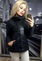 Женские куртка на косой молнии с воротником