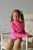 Распродажа! Свитер-гольф Many&Many розовый с косами и цветами., фото 1
