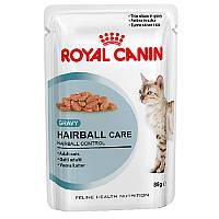 Royal Canin (Роял Канин) HAIRBALL CARE влажный корм  для взрослых котов всех пород, 85 гр