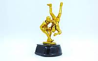 Статуэтка (фигурка) наградная спортивная Самбо Самбисты C-3278-B5 (р-р 9х9х17,5см)