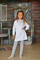 Платье-туника Many&Many для девочки белого цвета.