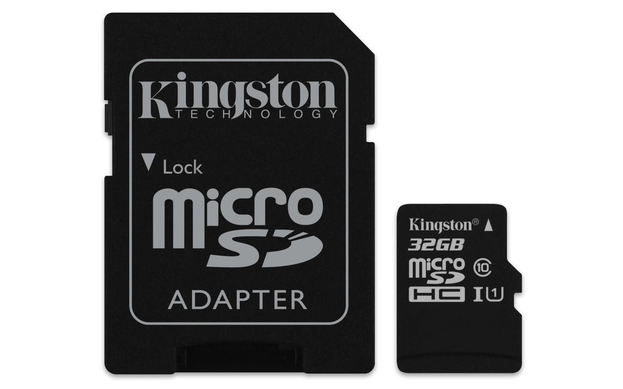 Карта памяти microSDHC 32Gb KIngston (Class 10)