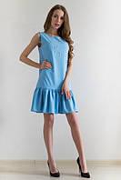 Платье женское Зарина голубое , магазин платьев