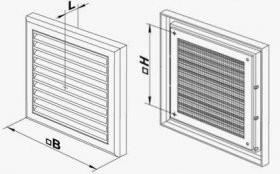Решетки вентиляционные пластиковые размеры