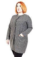 Кардиган-пальто большого размера Прямое, пальто-кардиган для полных женщин, трикотаж,  дропшиппинг поставщик