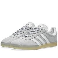 Оригинальные  кроссовки Adidas Gazelle Mid Grey & White