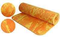 Коврик для фитнеса Yoga mat - оранжевый