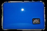 Классическая женская сумка из искусственной кожи голубого цвета D&K
