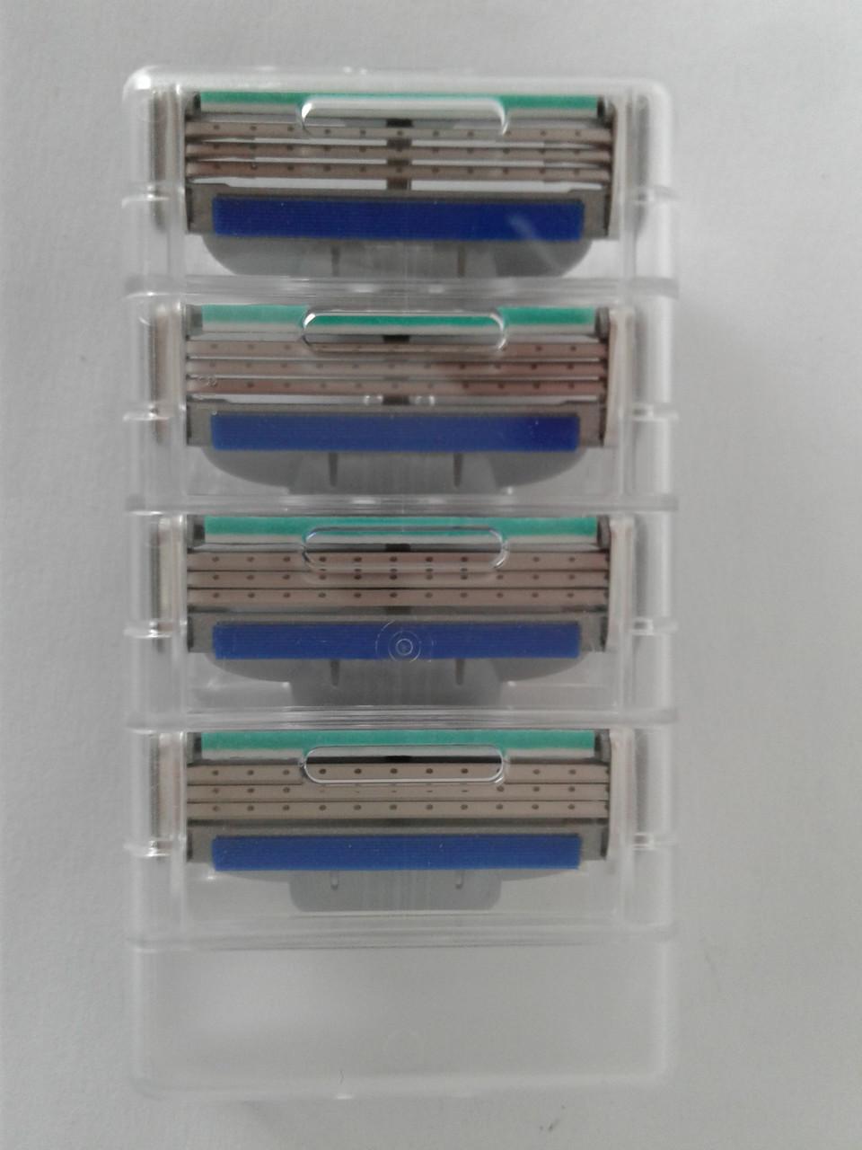 Кассеты для бритья мужские Gillette Mach3 Turbo 4 шт. (Жиллет Мак 3 турбо без упаковки оригинал)