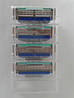 Кассеты для бритья мужские Gillette Mach3 Turbo 4 шт. (Жиллет Мак 3 турбо без упаковки оригинал), фото 1