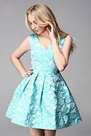 Платье женское Мари голубое , магазин платьев