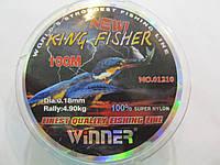 Леска для рыбалки с сечением 0,18мм Winner 100м