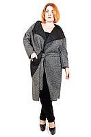 Кардиган-пальто большого размера Пояс, пальто-кардиган для полных женщин, трикотаж,  дропшиппинг поставщик
