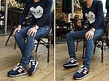 Кроссовки в стиле New Balance 520 сине-оранж., фото 4