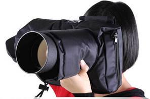 Защита (чехол) для зеркальных камер от дождя, снега и холода + шумозащита для Canon Nikon тип №3
