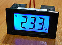 Цифровой LCD AC вольтметр 80-500В без доп питания