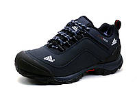 Зимние кроссовки Adidas Climaproof, темно-синие, нубук, фото 1