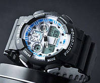 Спортивные часы Casio G-Shock GA 100 с белым дисплеем