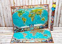 Скретч карта мира My Vintage Map (английский язык)