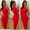Платье женское с баской рукав 40 см длинное