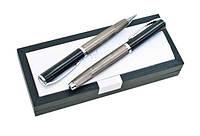 Комплект ручек металлических (авторучка + роллер) A + A-125 в черном подарочном футляре