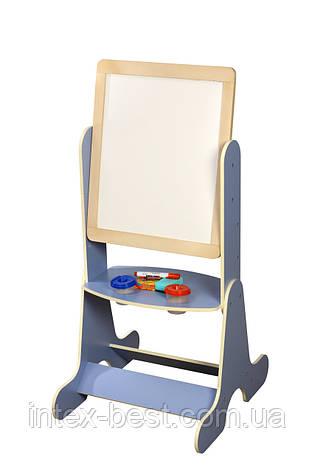 Детский мольберт цветной, синий. Финекс+ (Арт.084), фото 2