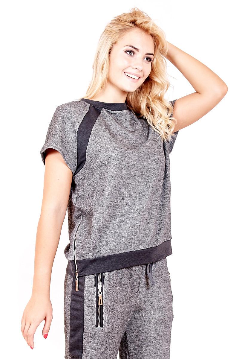 a68358e6cb8 Женская спортивная кофта c коротким рукавом от интернет магазина