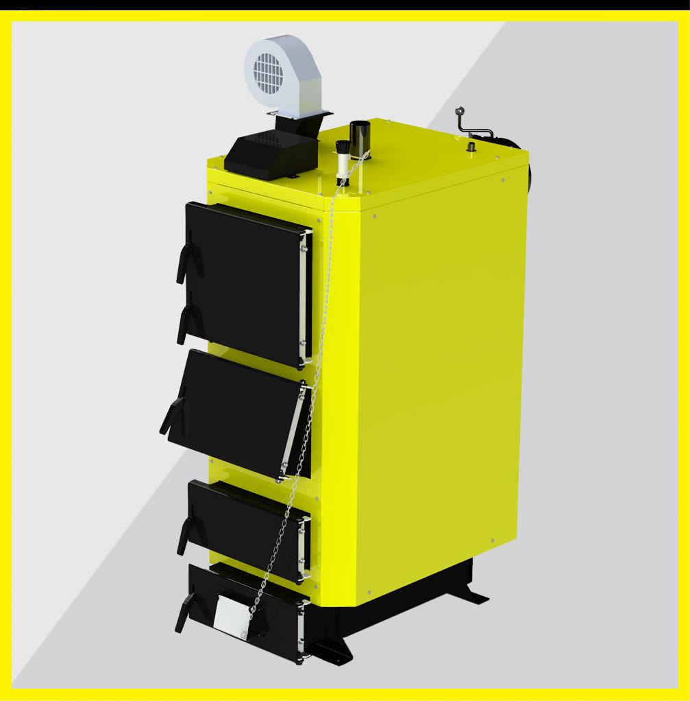 KRONAS UNIC New 35 кВт котел длительного горения на дровах и угле