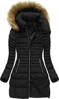 Модный  пуховик женский зимний с капюшоном