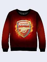 Женский свитшот/реглан Arsenal с изображением известной футбольной команды.