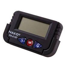 Электронные автомобильные часы с подсветкой/на липучке Nako NA-613D