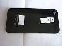 Задняя крышка для iPhone 4S черная, копия высокого качества