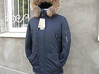 Зимняя мужская куртка аляска на верблюжей шерсти