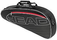 Черная теннисная сумка  на 3 ракетки 283454 Elite Pro  BKWH HEAD