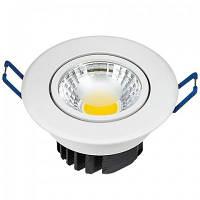Встраиваемый светильник Downlights COB LED 3W 2700K\4200ЛK\6400K белый HL698LE