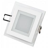 Встраиваемый светильник Downlights квадрат LED 6W 3000K\4200K\6400K белый HL684LG