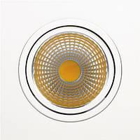 Встраиваемый светильник Downlights COB LED 10W 2700K\6400K белый HL6711L
