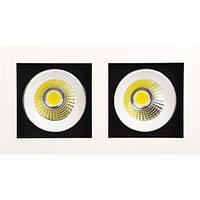 Встраиваемый светильник Downlights COB LED 2*8W 2700K\6400K белый HL6722L