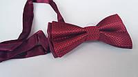 Красная бабочка из атласа, синяя, 9,5х5 см., 45/36 (цена за 1 шт. + 9 гр.)