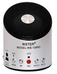 Портативная колонка WSTER WS-139RC (FM, MP3)