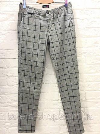 Женские  брюки штаны серые в клетку  I -WH fashion, фото 2