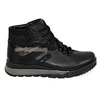 Мужские ботинки на шнуровке, осень/зима, кожа флотар и натуральный замш. 40 размер