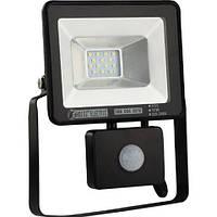 Прожектор 10W LED IP65 6500K с датчиком движения 068-004-0010