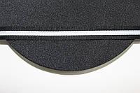 ТЖ 15мм репс (50м) черный+белый